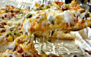 Buffalo Chicken Jalapeno Popper Pizza