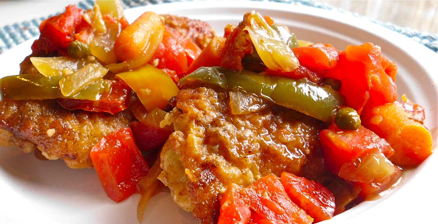 Plate of Chicken Cacciatore