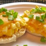 Spicy Egg Salad Sandwich on English Muffin