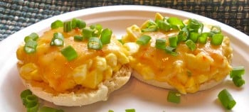 Spicy Egg Salad English Muffin