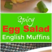 Spicy Egg Salad on English Muffins