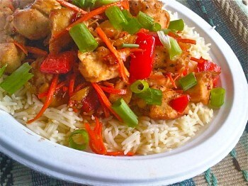 Chinese Spicy Orange Chicken Stir-Fry