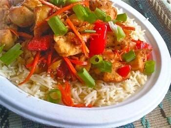 Chinese Spicy Orange Chicken Stir-Fry