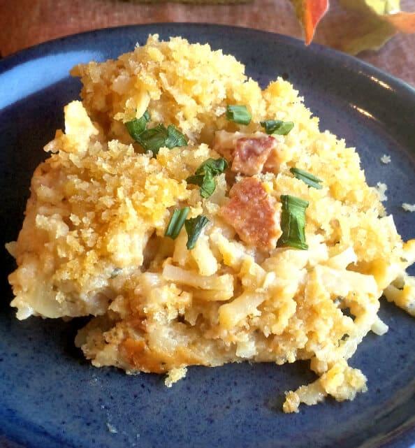 Cheesy Bacon Ranch Hash Brown Casserole