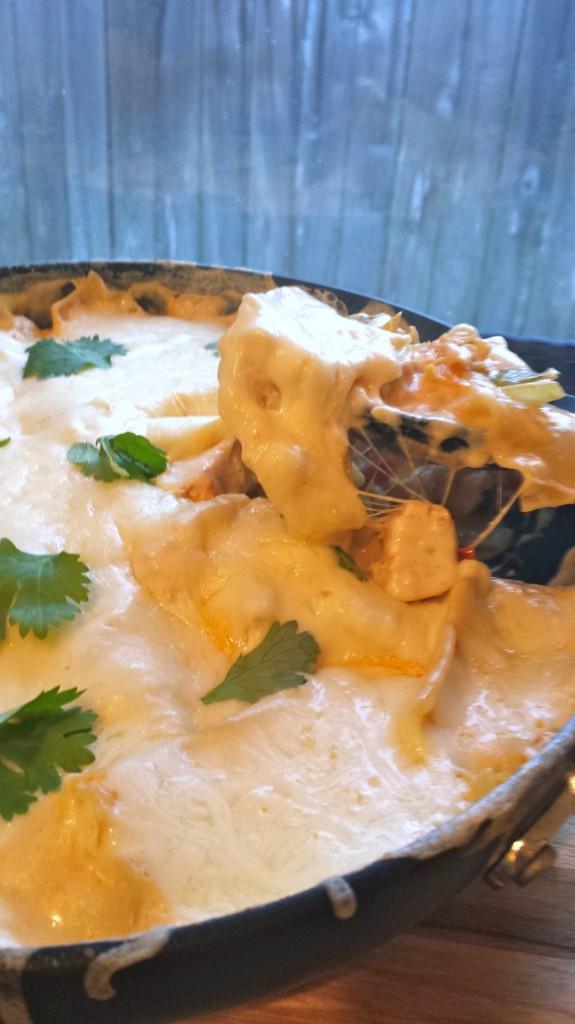 Chicken-skillet-lasagna-serve