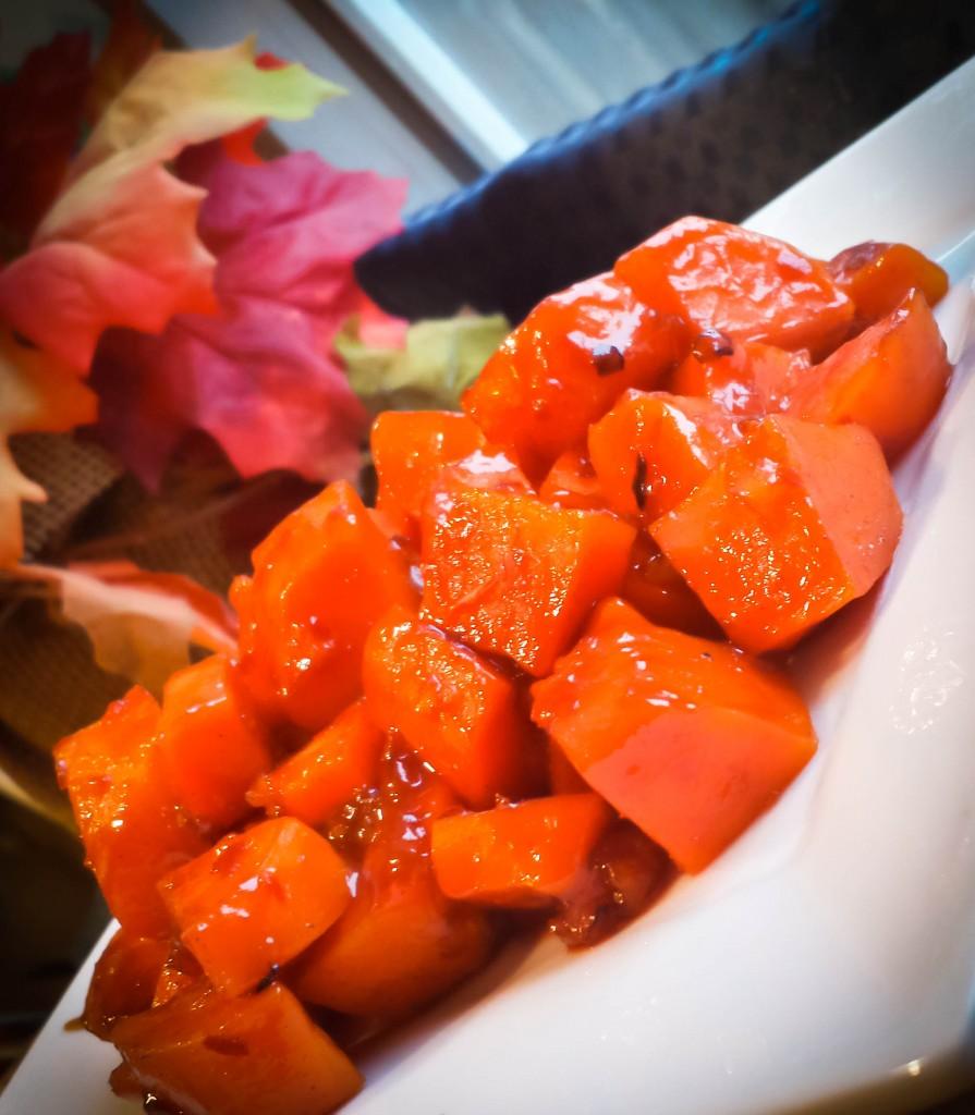 Orange Guajillo Glazed Sweet Potatoes