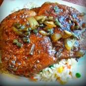 Balsamic Capers Pork Chops