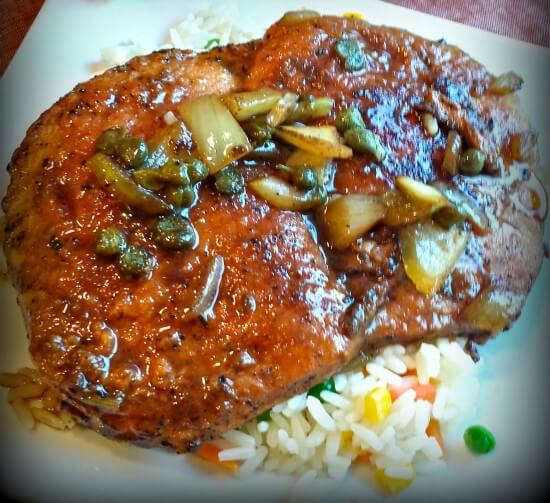 Balsamic Capers Pork Chops Flavor Mosaic