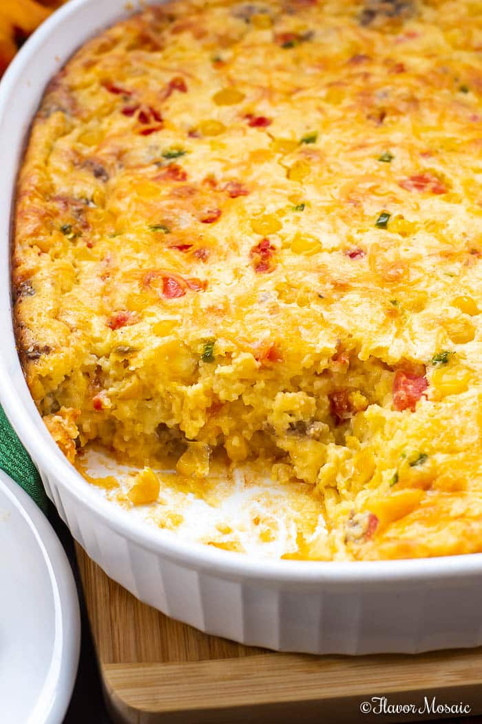 Jiffy Corn Casserole with Sausage