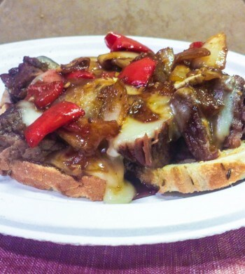 Mongolian Beef Cheesesteak Sandwich