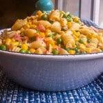 Creamy Corn, Peas and Pasta