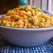 Creamy Corn, Peas and Pasta