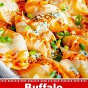 Buffalo Chicken Stuffed Shells 1-Photo Red Label Pin