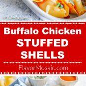 Buffalo Chicken Stuffed Shells 2-photo red-label long pin 5 Flavor Mosaic