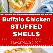 Buffalo Chicken Stuffed Shells Long Pin 2-photo Red Label 3