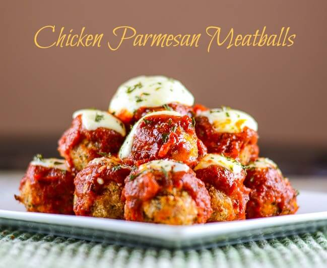Chicken Parmesan Meatballs for #Appetizer Week