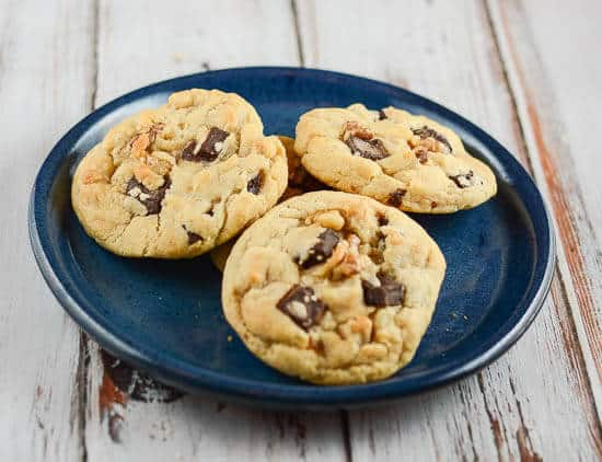 Dark Chocolate Chunk Walnut Cookies