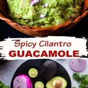 2-pin photo for Spicy Cilantro Guacamole v4