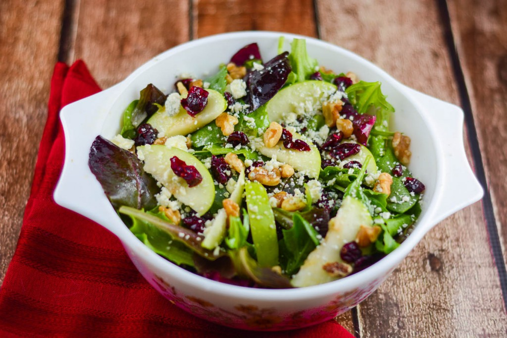 Apple Walnut Cranberry Salad-4
