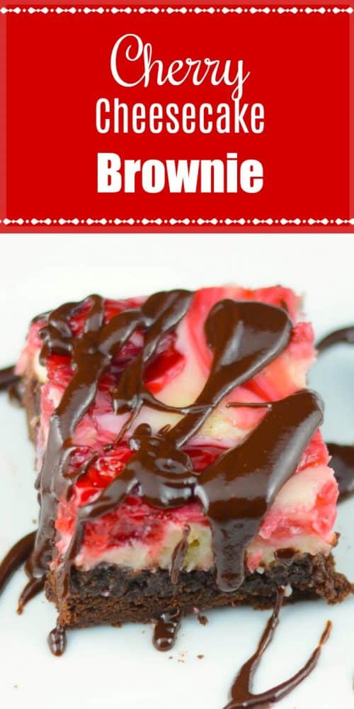 Cherry Cheesecake Brownies Pin