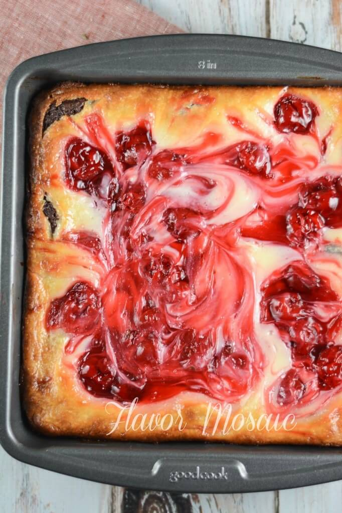 Cherry Cheesecake Brownies Pan