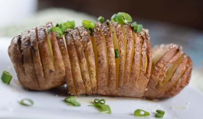 Hasselback Potatoes - Side View