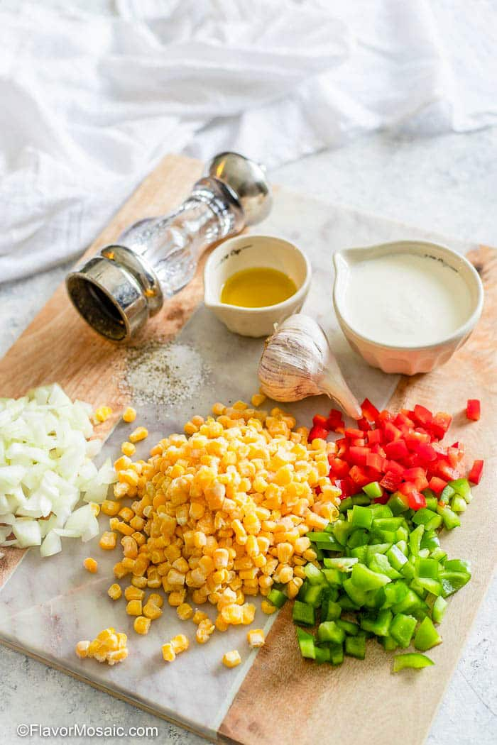 Ingredients for Maque Choux recipe