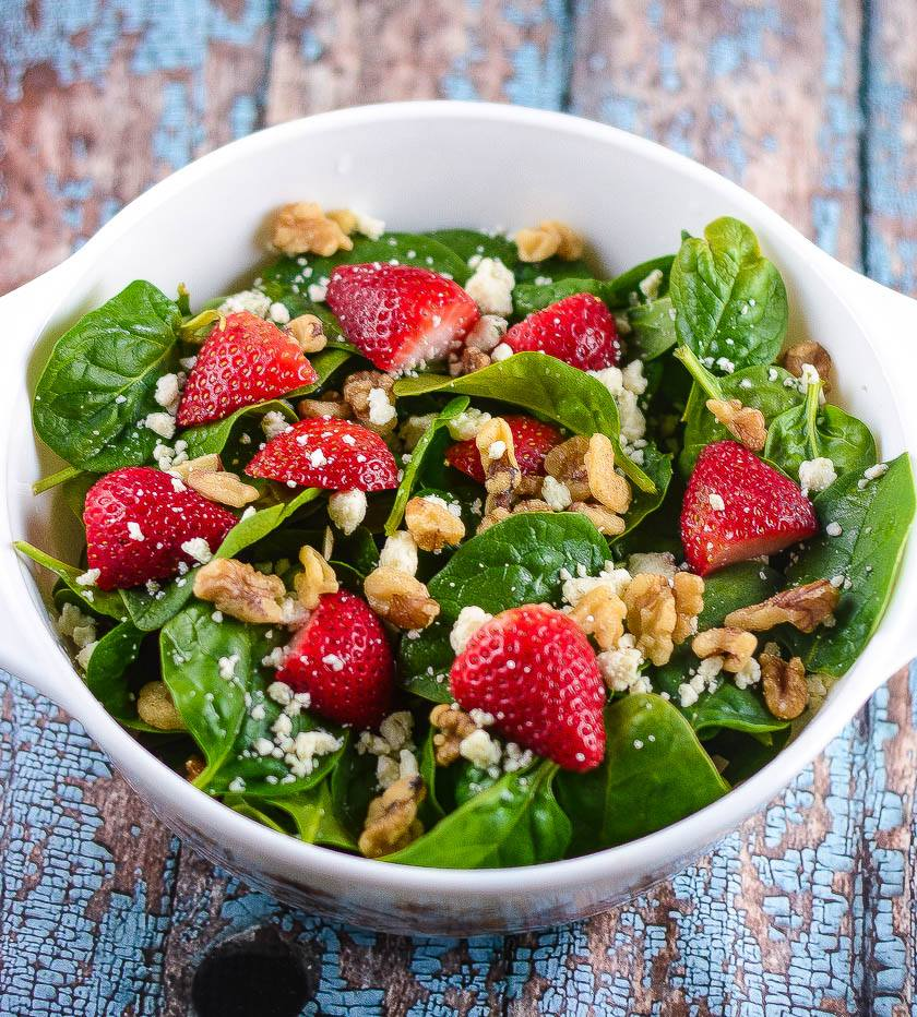 Spinach Strawberry Champagne Salad