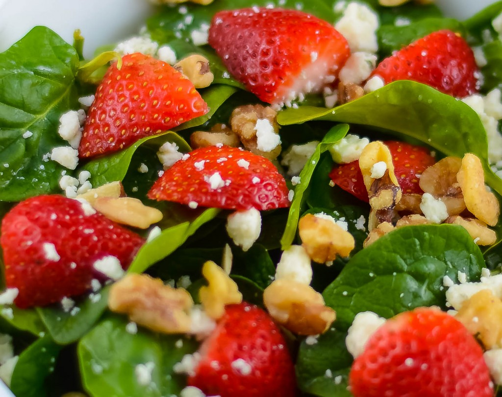 Spinach Strawberry Champagne Salad - Flavor Mosaic
