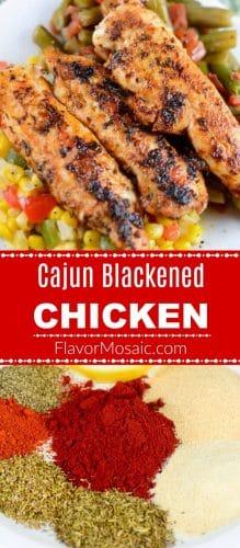 Cajun Blackened Chicken Long Pin - Flavor Mosaic