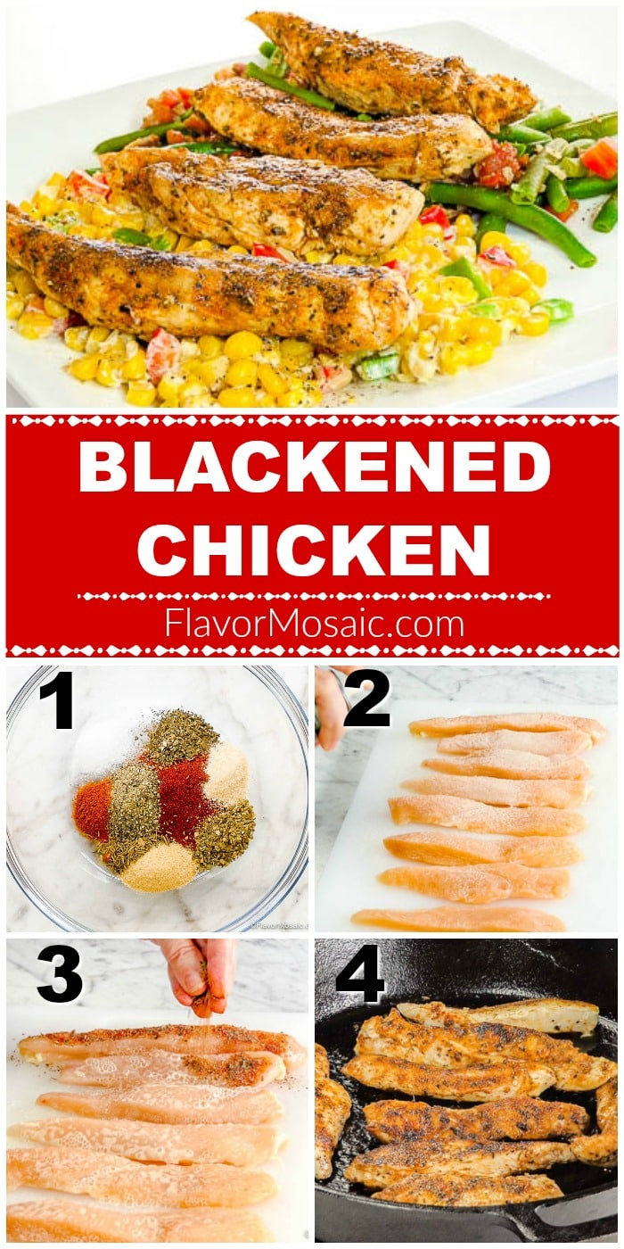 Cajun Blackened Chicken Breast Step By Step How To Make Photo Collage