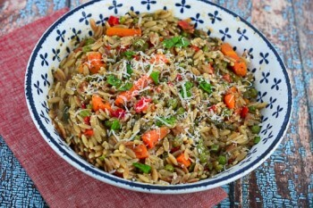 Garlic-Parmesan-Orzo-Primavera