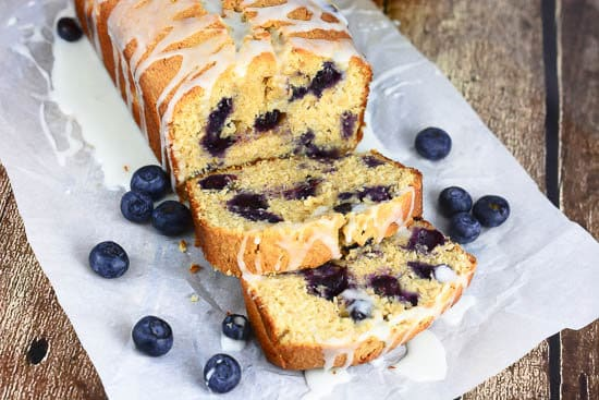 Glazed Lemon Blueberry Pound Cake