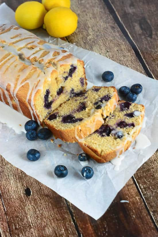 Glazed Lemon Blueberry Pound Cake - Flavor Mosaic