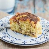 Lightened Up Streusel Filled Coffee Cake