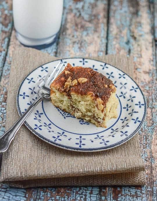 Lightened Up Streusel-Filled Coffee Cake