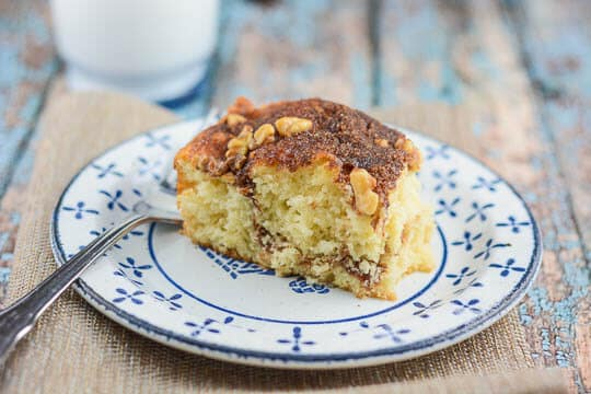 Lightened Up Streusel-Filled Coffee Cake