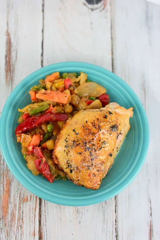 ... Roasted Chicken Thighs results in tender, juicy, flavorful chicken