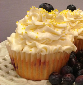 TipToeFairy Lemon Blueberry Cupcakes
