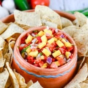 Fresh Mango Pico de Gallo Salsa