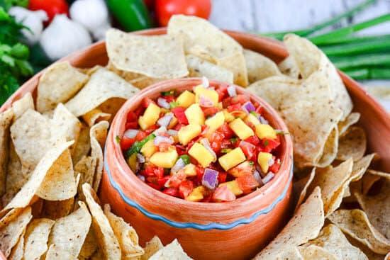 Fresh Mango Pico de Gallo Salsa - Flavor Mosaic