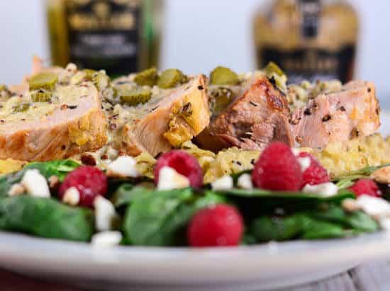 Pork Tenderloin with Mustard Cream Sauce and Cornichons - Flavor Mosaic