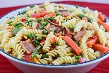 Bacon Pasta Salad Primavera