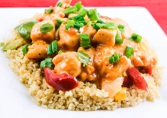 Bang Bang Chicken with Quinoa