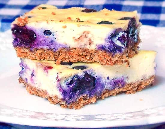 Blueberry Cheesecake Bars - GHB