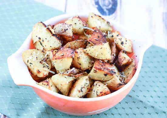 ... adapted to create this Oven Roasted Garlic Herb Parmesan Potatoes