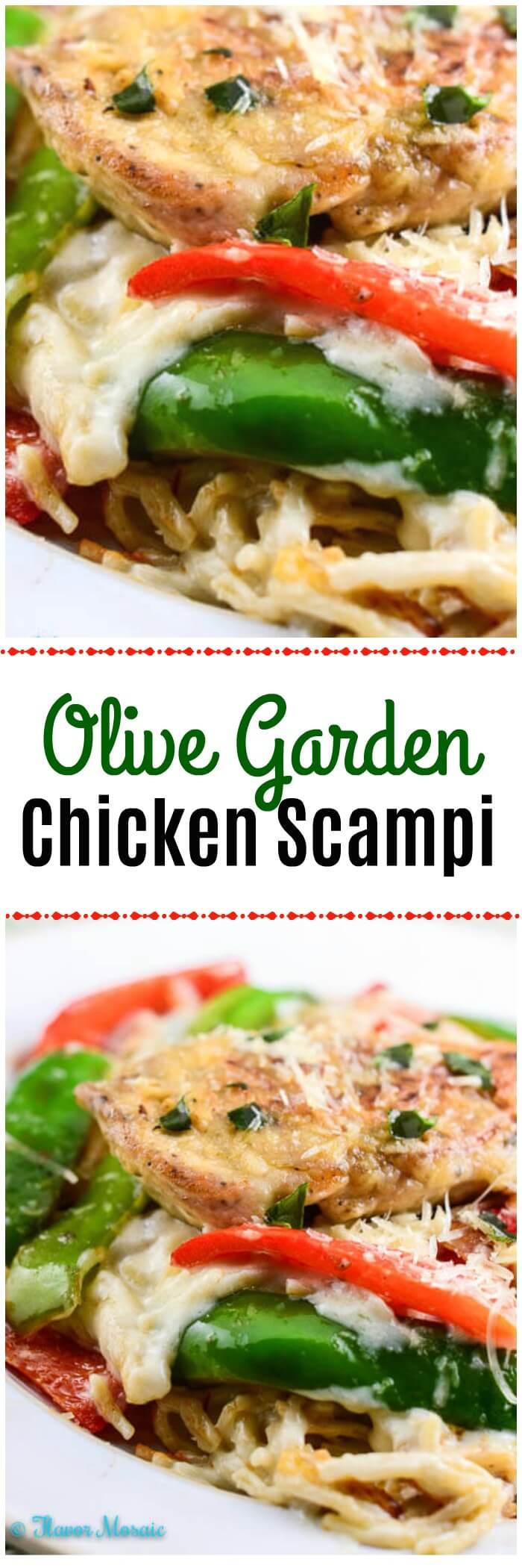 Copycat Olive Garden Chicken Scampi by Flavor Mosaic
