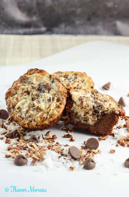 German-chocolate-cookie-cups