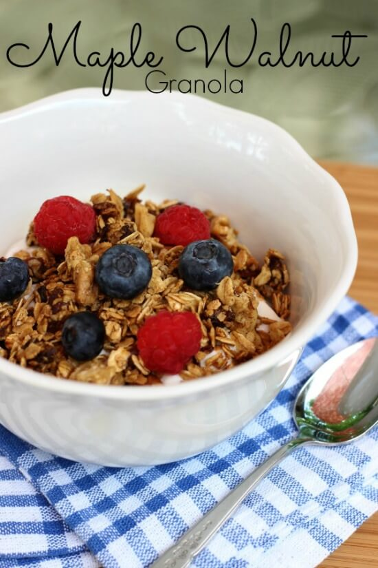 Gluten Free Maple Walnut Granola