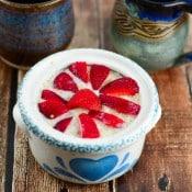 Strawberries and Cream Hot Quinoa Breakfast Cereal